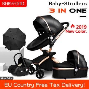 Aluminium legierung rahmen baby kinderwagen 3in1 net gewicht 12kg hohe landschaft weg von der boden 68cm baby wagen baby auto 2in1 kinderwagen