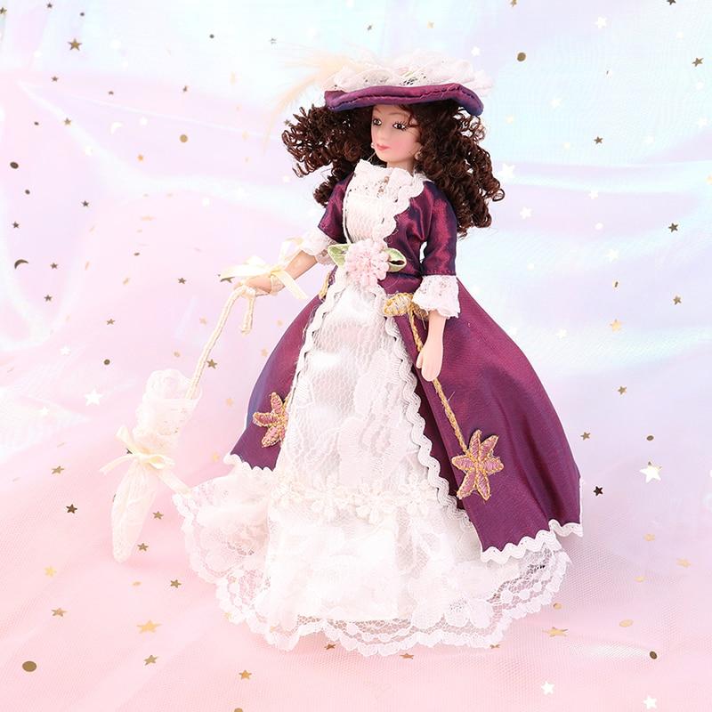 1:12 Porcelain Doll Dollhouse Victorian Elegant Lady Madam Dollhouse Miniature