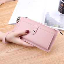 New casual Multifunctional long women wallets slim female PU purse card holder Clutch Hasp Zipper Purses  ladies Coin bags