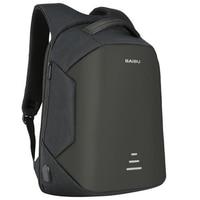 BIABU 15 6inch Anti Warning Men Laptop Backpack External USB Charge Waterproof Multifunction Computer Bag Casual
