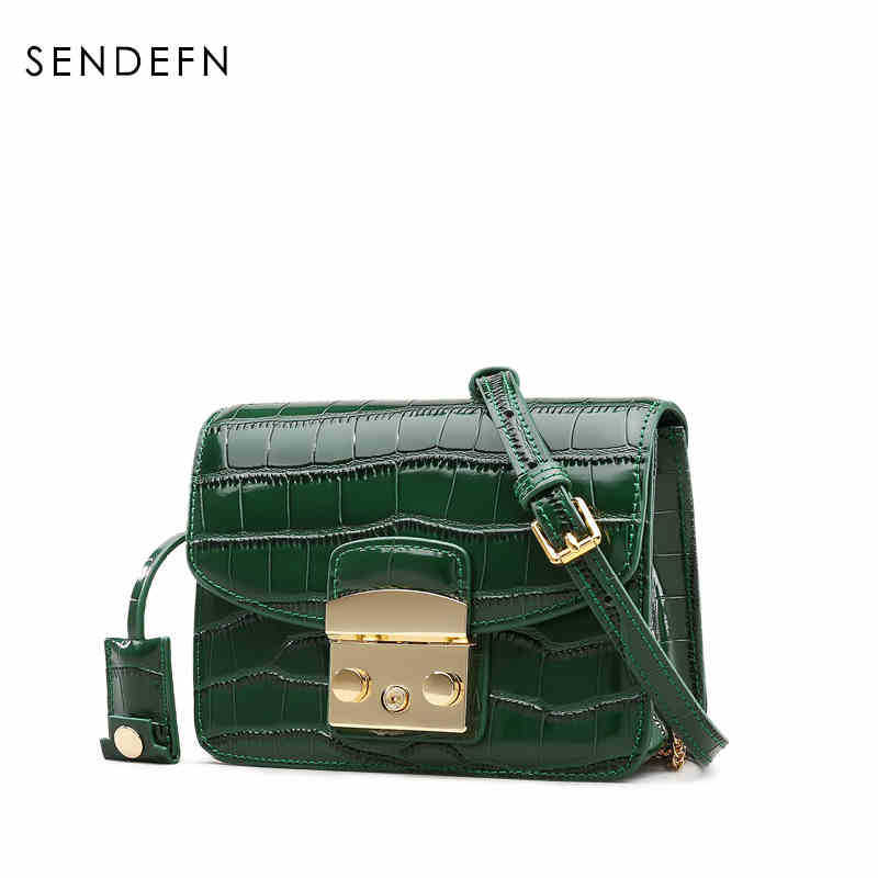 Brand Quality Leather Women Messenger Bags Fashion  Alligator Shoulder Bags Ladies Satchels Women Handbags Crossbody Bags bromen crossbody bags for women leather handbags pvc printing satchels ladies shoulder messenger bag brand design dames tassen