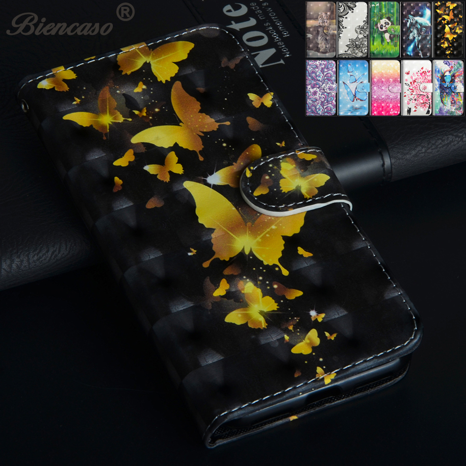 PU Leather Wallet Case For Huawei Y3 Y5 Prime Y6 Y9 2018 2017 Flip Cover Card Holder Cas ...