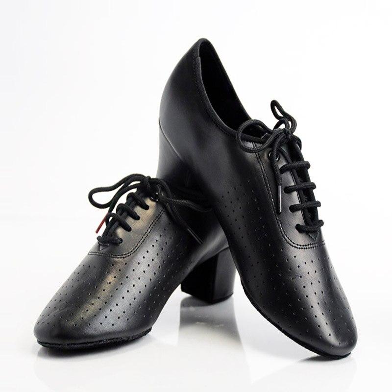 Printemps 2019 chaussures de danse de salon femme chaussures latines femmes chaussures de sport Jazz à lacets chaussures de professeur en cuir véritable chaussures professionnelles