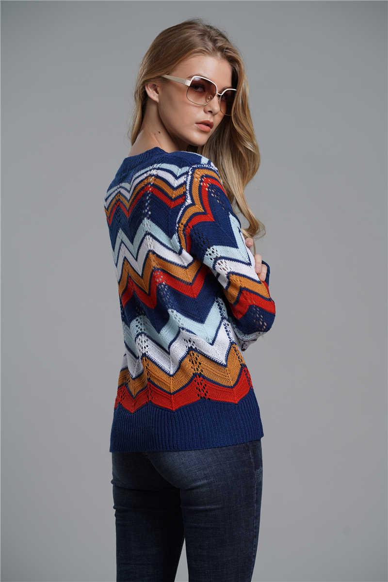 40fb35e6844d Detail Feedback Questions about strip rainbow Winter Sweater Women ...