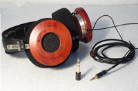 DIY 53mm T1 motorista Rosewood/preto Sandalwood Febre fones de ouvido de 300 ohms/600 ohms