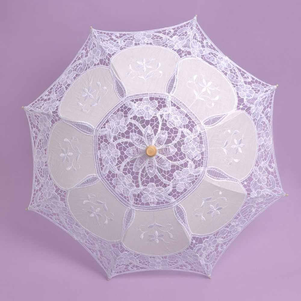 18CM encaje bordado sombrilla nupcial fiesta suministros decorativos