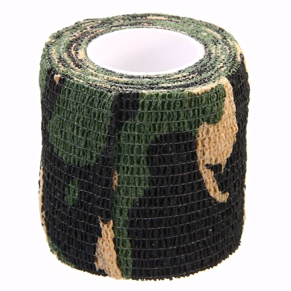 5CM*4.5M Self-adhesive Hunting Camouflage  Fabric Wrap Tape Outdoor Cycling Camping Military Army Camo Stealth Tape