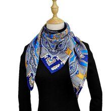 Carré de Soie Écharpe Femmes 90 90 cm De Mode Paisley Imprimé Hijab Bandana  Écharpe e528ab6d1f3