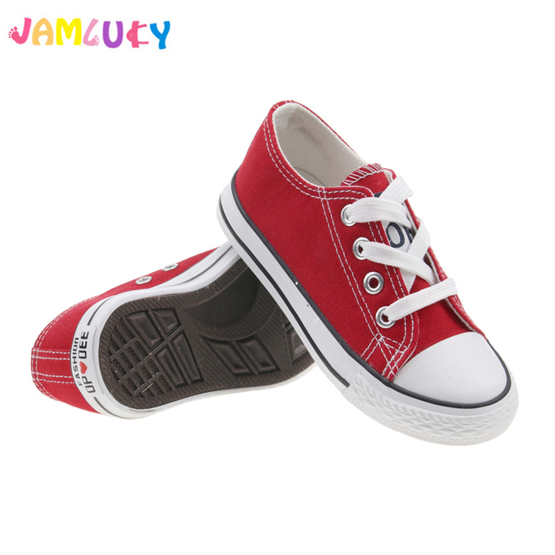Kids Canvas Shoes Children Girls Autumn Classic Flat Shoes Fashion Lace-Up Breathable Sneakers For Boys Spring Children Footwear