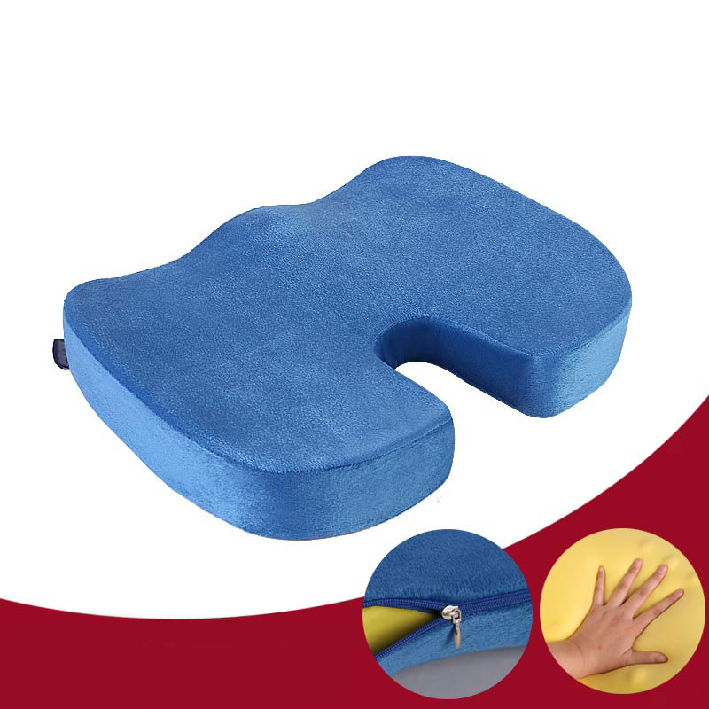 1PC Memory Foam Seat Cushion Back Sciatica Coccyx Tailbone Pain Relief Pillow for Office Chair Car MYDING