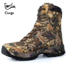 CUNGE Men Hiking Shoes Waterproof leather Shoes Climbing & Fishing Shoes New popular Outdoor shoes