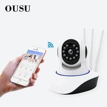 OUSU 3 Antennas onvif Infrared IP camera wifi CCTV kamera Home Security 1080P PTZ camara de vigilancia Wireless App mini cam