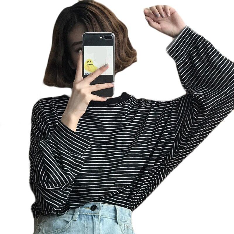 96f72b265679 Camiseta a rayas estilo Preppy verano Harajuku dulce camiseta Kawaii  camiseta para mujeres suelta ...