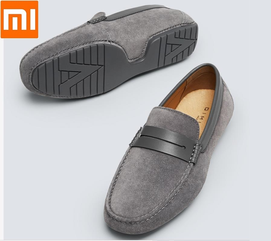 Xiaomi Fashion casual Men s suede moccasin shoes Comfortable and breathable Suede leather shoes