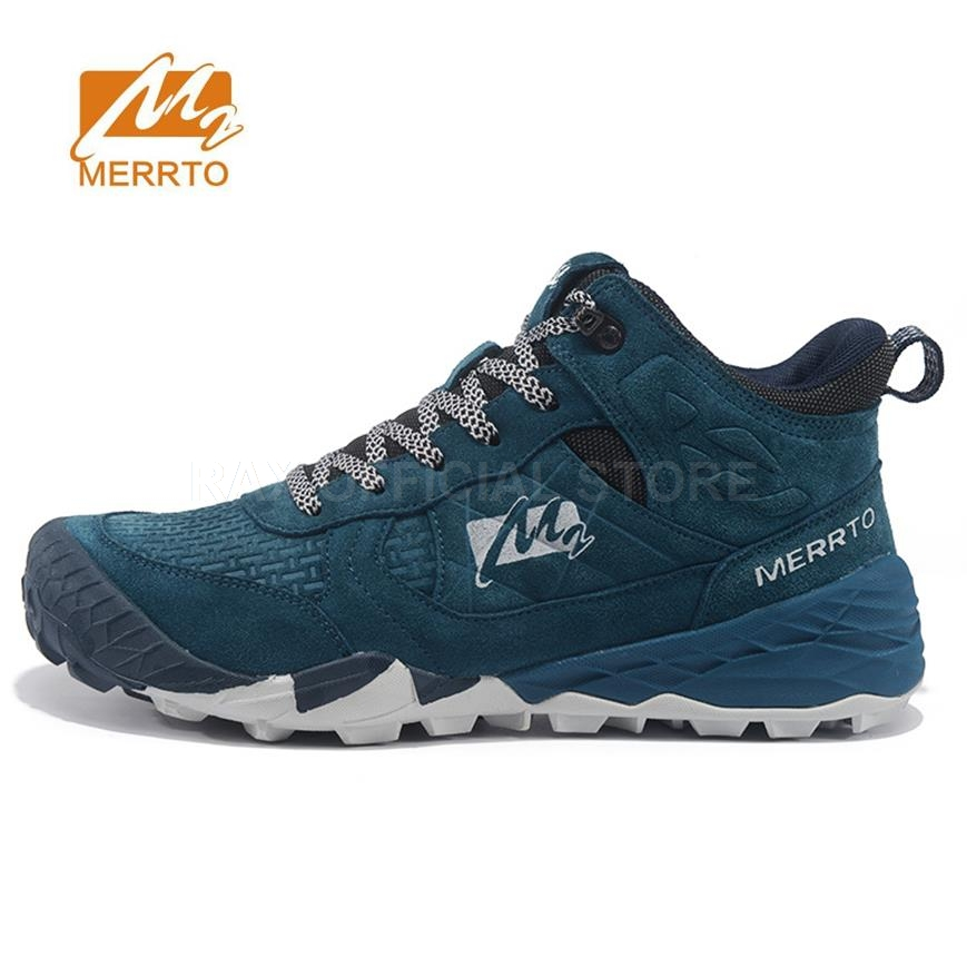 MERRTO Mens Hiking Boots Leather Outdoor Hiking Trekking Boots For Men Sports Shoes Man Trekking Shoes  Climbing Mountain Boots men s sneakers outdoor mountain hiking shoes trekking boots man 2017 brand waterproof leather climbing shoes male sports shoes