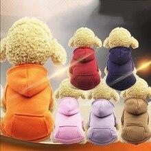 Hoomall толстовки для маленьких собак Щенок Чихуахуа наряд моды Cat пальто Йорки Толстовка Теплый Собака одежда зимняя одежда для собак
