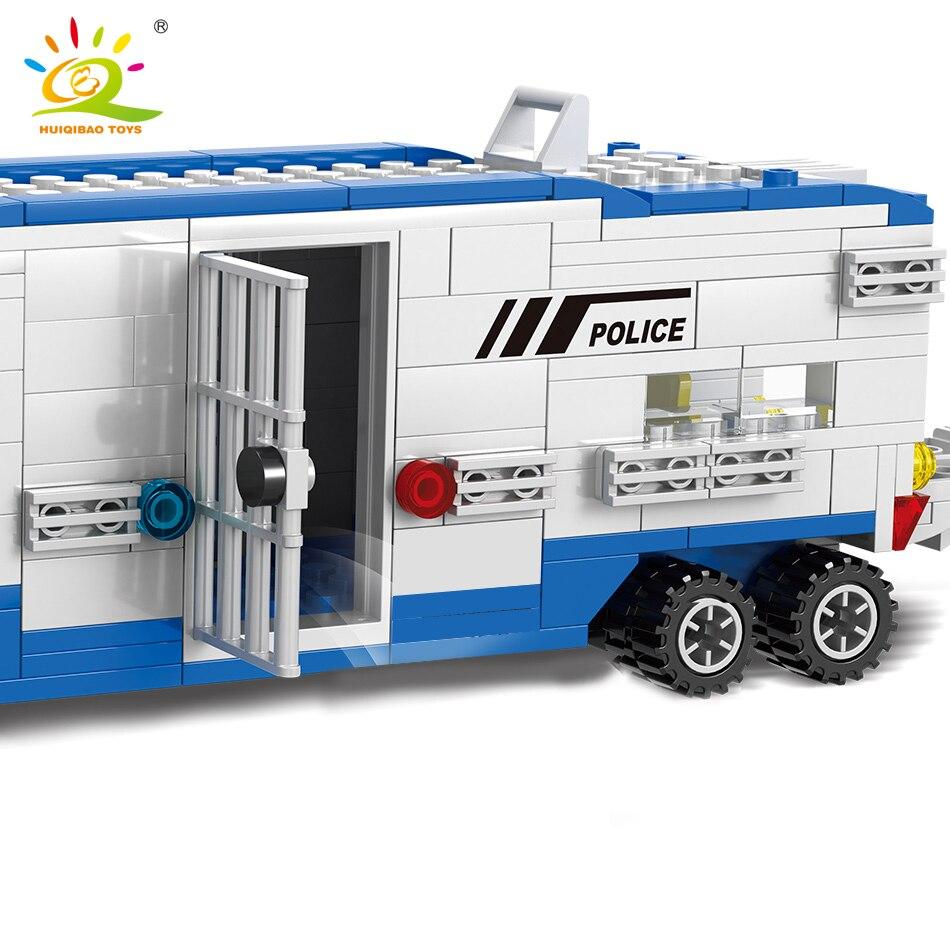 Oyuncaklar ve Hobi Ürünleri'ten Bloklar'de 1002 adet Polis Istasyonu Cezaevi Yapı Taşları legoing şehir kamyon Helikopter araba polis figürleri Modeli Tuğla Oyuncak çocuklar Için'da  Grup 3