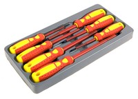 7pc Electrical Screwdriver Set Insulated For Applications Up To 1000V AC And 1500V DC Hand Tools