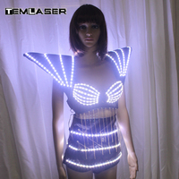 LED Costumes Suits Clothes Bra For Evening Party Performance Supplies LED Girl Bra With Light Effects Holiday Show