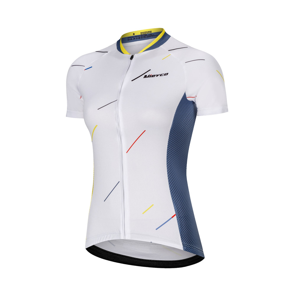 Women's Cycling Jersey Female Road Bike Cycling Tops T Shirt Breathable Short Sleeve Summer Colorful Triangle Bicycle Clothes