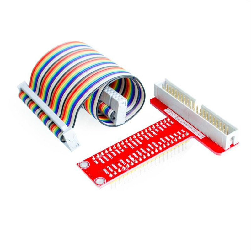 Raspberry Pi 3&Raspberry Pi 2 Model B T expansion DIY kit (40Pin GPIO cable + GPIO T-adapter plate) kitlee40100quar4210 value kit survivor tyvek expansion mailer quar4210 and lee ultimate stamp dispenser lee40100