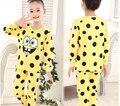 2015 Muchachos de la manera ropa de Noche Niñas Pijama Ropa de Bebé Ropa Para Niños Set Niños Pijamas Conjuntos Girls Snow Queen Pijamas set