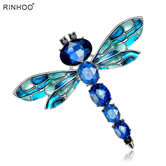 d21b1beee5440 US $1.01 27% OFF Vintage 3 Colors Crystal Rhinestone Dragonfly Brooches for  Women Cloth Brooch Pins Jewelry Accessories Gift For Women Jewelry-in ...
