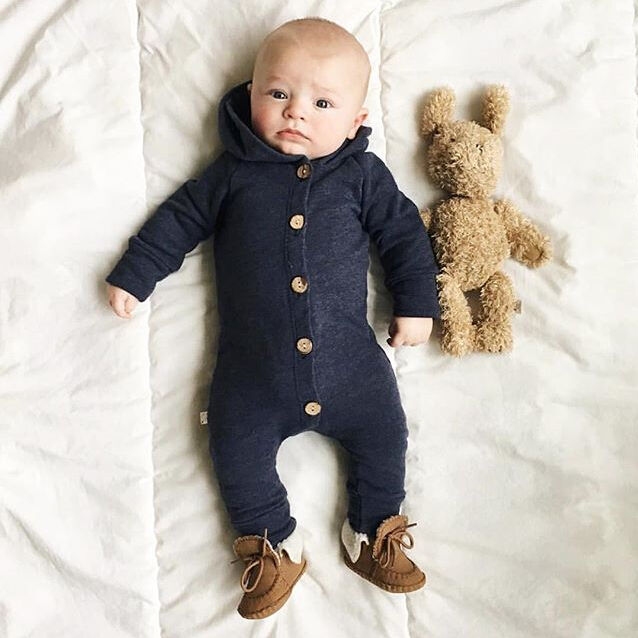 HTB1AvzFXdfvK1RjSszhq6AcGFXad 2019 Children Spring Autumn Clothing Baby Kids Boys Girls Infant Hooded Solid Romper Jumpsuit Long Sleeve Clothes Outfits 0-24M
