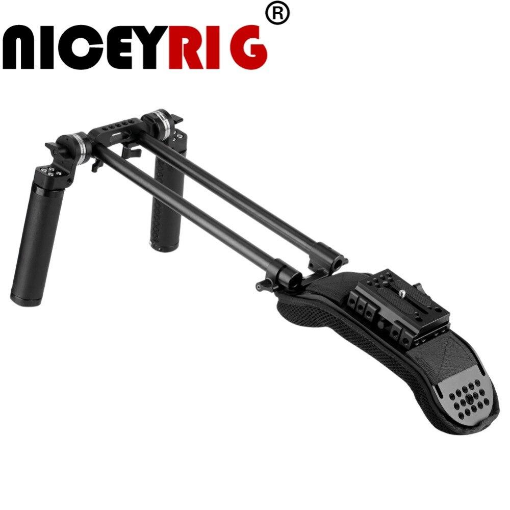 NICEYRIG ため sony a6500 a6300 a6000 a7iii a7m3 とよりモデル汎用ショルダーリグキット眼カメラケージ写真撮影  グループ上の 家電製品 からの カメラ ケージ の中 1