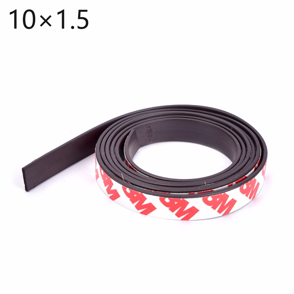 1Meters self Adhesive Flexible Magnetic Strip 1M Rubber Magnet Tape width 10mm thickness 1.5mm free shipping flexible magnetic strip rubber magnet width 1pcs 297x210x1mm wothout adhesive