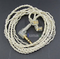 JYL With Earphone Hook Silver Foil Plated PU Skin Cable For ue18 11pro 10pro 7pro Custom In ear LN005455