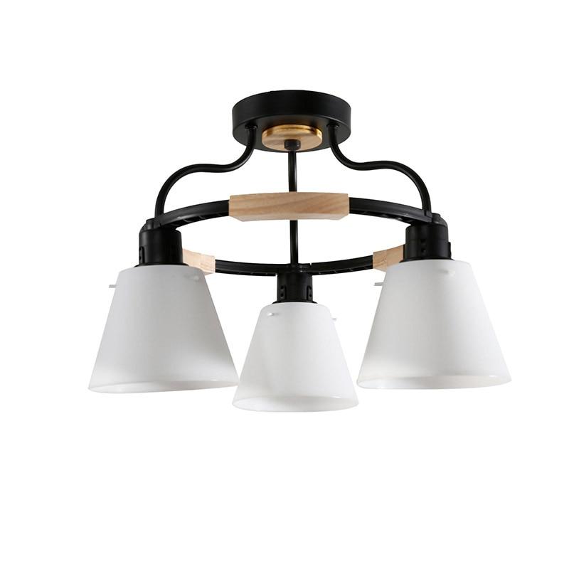 Nordic LED Light Wooden Chandelier Lights E27 With PVC Lampshade For Living Room Lighting Fixtures 220V Nordic LED Light Wooden Chandelier Lights E27 With PVC Lampshade For Living Room Lighting Fixtures 220V 110V Light