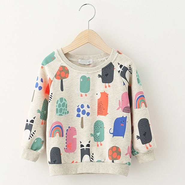 3a094fa0e Boy Girl sweatshirt character print long sleeve pullover cacual cotton top kids  hoodie for children 2