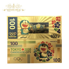 Gold-Banknote 100-Yen Olympic-Games Tokyo Money-For-Collection Japan in 10pcs/Lot