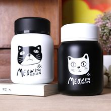 220ML/350ML Healthy Cute mini Japanese Cat Stainless steel Travel Thermos water bottle coffee thermos mug termos Kawaii mug(China)