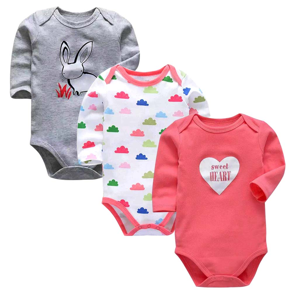 AOLU Newborn Toddler Baby Kids Girls Long Sleeve Romper Bodysuit Outfit Clothes