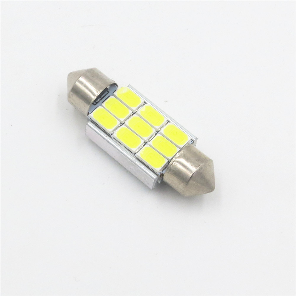 цены на CYAN SOIL BAY 9LED 5630 SMD Festoon C5W CANBUS ERROR FREE Auto Car Dome License Plate Map Reading Light Bulb 36mm White Ice Blue в интернет-магазинах