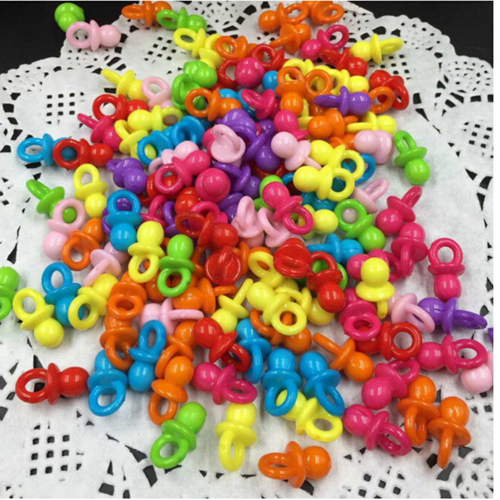 100pcs High Quality Feeder Boys Girls Birthday Decorations Baby Mini Pacifiers Feeding Dummies Soother Nipples Hot