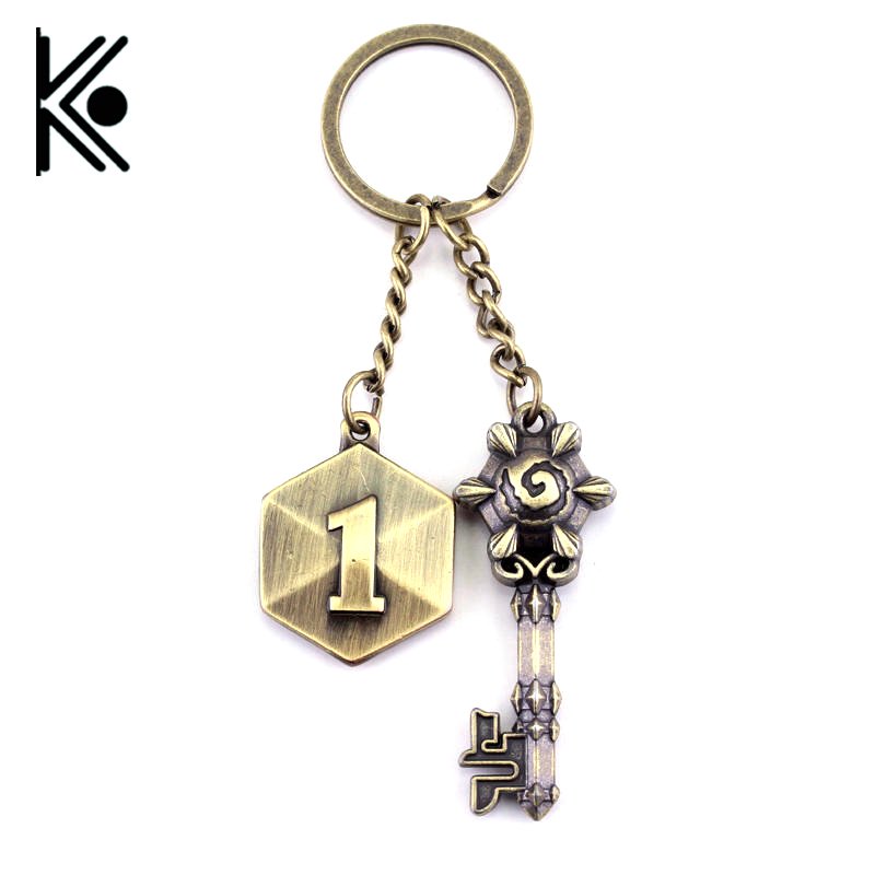 Game DOTA 2 Keychain War craft keychain WOW Zinc Alloy keyring Official Classic Warcraft Key Chain Ring for fans cosplay jewelry