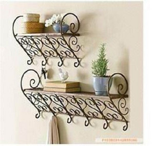 Iron Corner Shelf Wrought Iron Flower Pot Holder Bathroom
