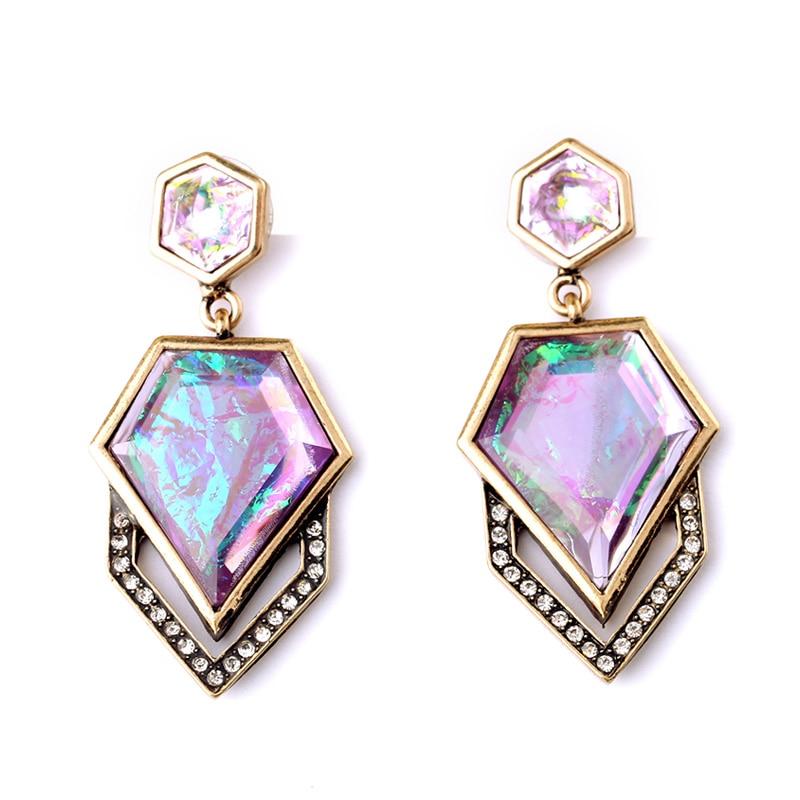 Nieuw ontwerp geometrische hangende oorbellen beknopte stijl mode-sieraden parfum vrouwen oorbellen mijn bestellingen