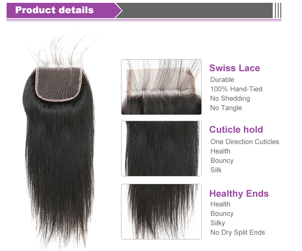 HTB1Aw0eaLfsK1RjSszgq6yXzpXao Alimice Indian Straight Human Hair Bundles With Closure 3 Bundles Hair Extensions With Closure Remy Lace Closure with Bundles