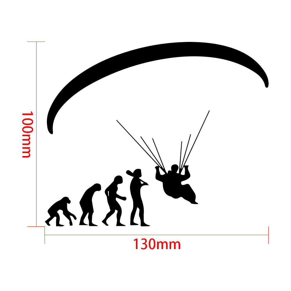 Tancredy Human Evolution Paraglid 3D Car Bumper Stickers and Decals Car  Styling Decoration Door Body Window Motorcycle sticker