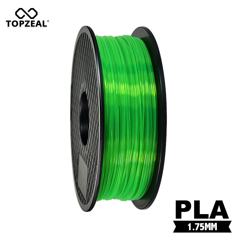 TOPZEAL Clear 3D Plastic Filament PLA Filament 1.75mm 1KG Dimensional Accuracy +/- 0.02mm Transparent Green for 3D PrinterTOPZEAL Clear 3D Plastic Filament PLA Filament 1.75mm 1KG Dimensional Accuracy +/- 0.02mm Transparent Green for 3D Printer