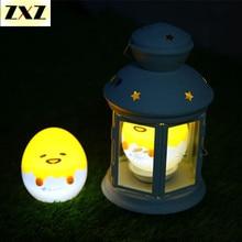 Een lamp Japanse Anime Yellow Ei Licht-Up Kinderen Speelgoed Lui Eigeel Yellow Slaap LED Nachtlampje Leuke versieren Tafellamp