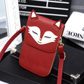 2016 New Mini Bags Fox Print Women Crossbody Bags for Women Small Shoulder Bags For Women Bag Ladies Leather Bolsos Mujer