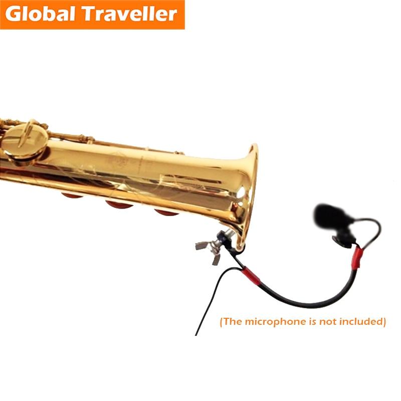 Clip para soporte de micrófono Saxo Alto (Eb) / Tenor (Bb) / Soprano (Bb) / Barítono (Eb) Micrófono inalámbrico para saxofón Clip para soporte de rendimiento