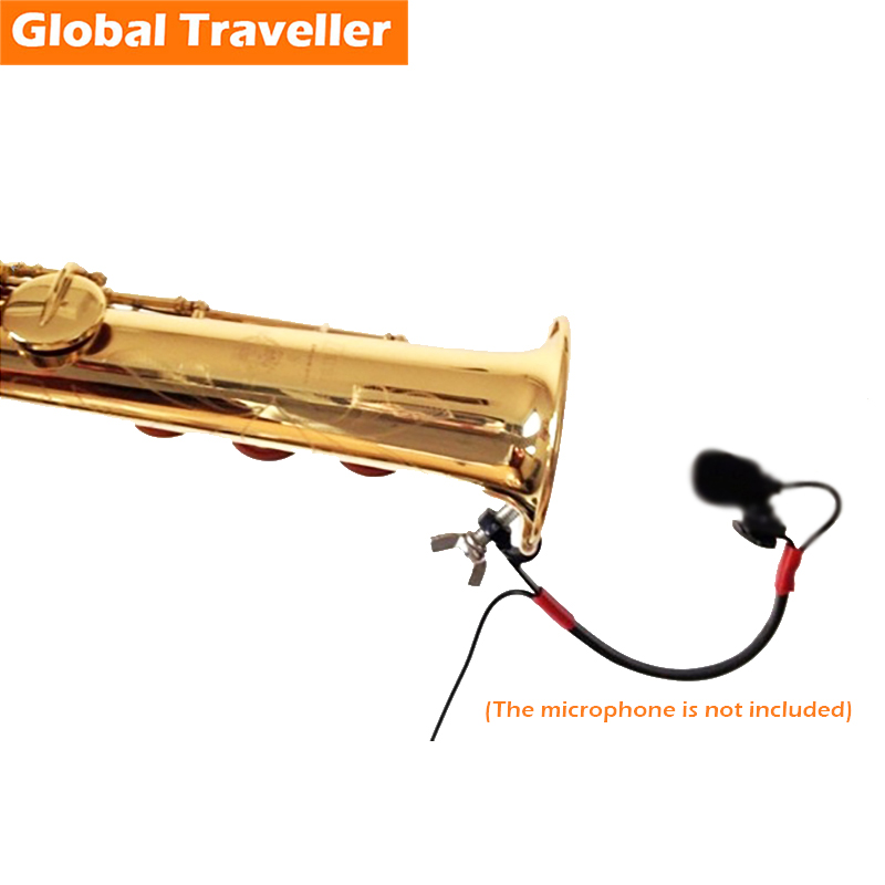 Sax Microfoon Standaard Clip Alto (Eb) / Tenor (Bb) / Sopraan (Bb) / Bariton (Eb) Saxofoon Draadloze Microfoon Prestatie Standaard Clip