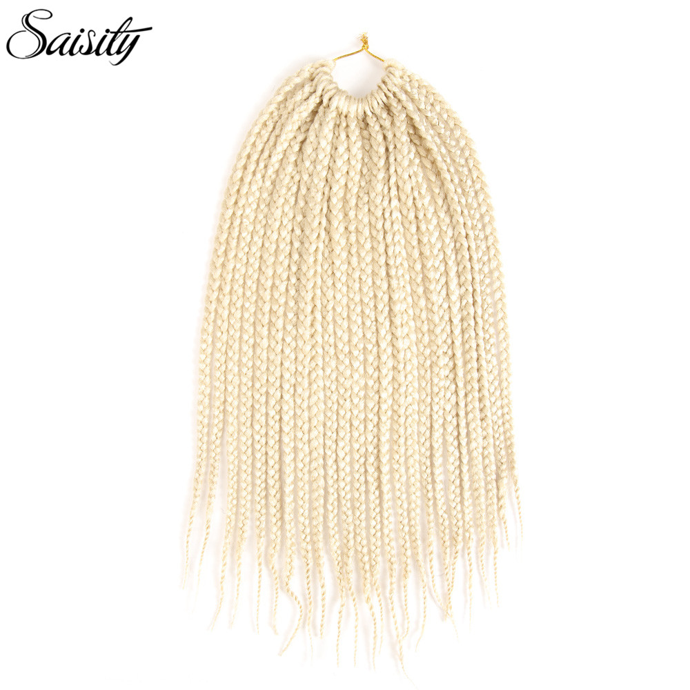 Saisity blonde box braids crochet braids synthetic hair extenison braiding hair jumbo crochet hair extensions synthetic dreadloc