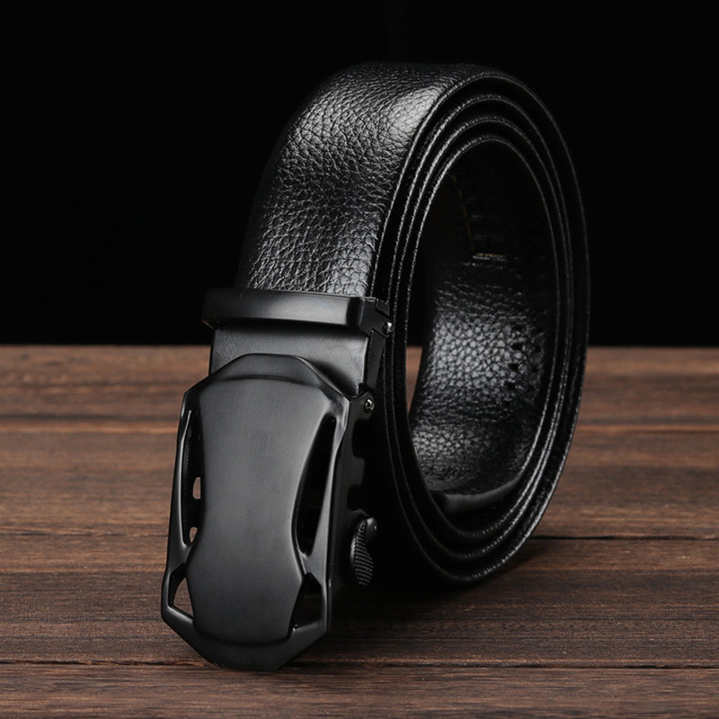 Men's Belts El Barco Automatic Buckle Leather Men Belt High Quality Black Male Belts Casual Luxury Belt For Men Size 105-125cm Diversified Latest Designs